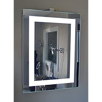 amazon com lighted medicine cabinet 24 w x 32 t lighted door rh amazon com lighted medicine cabinets with mirrors lowes Lighted Recessed Medicine Cabinets