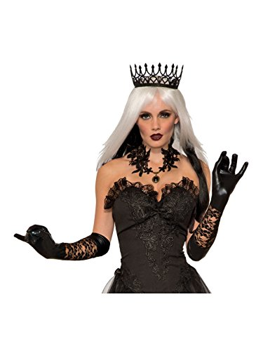 Forum Novelties Party Supplies Dark Royalty Queen Crown, Black, Standard, Multi -