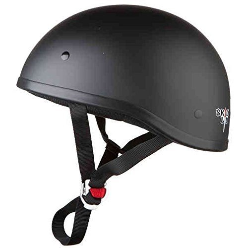 (Skid Lid Original Solid Motorcycle Helmets - Matte Black - Medium)