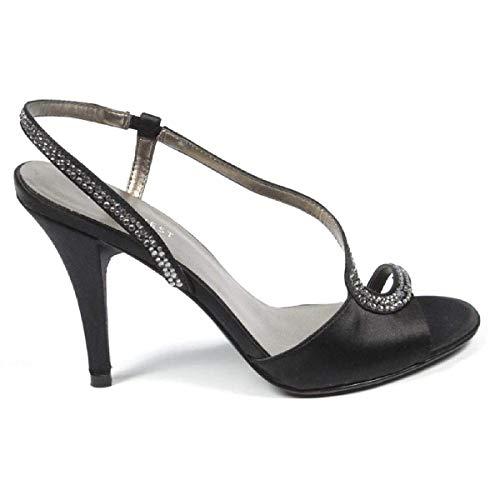 Black Donna Nwjaialai West Dietro Sandalo Cinturino Con Nine FRPHwH