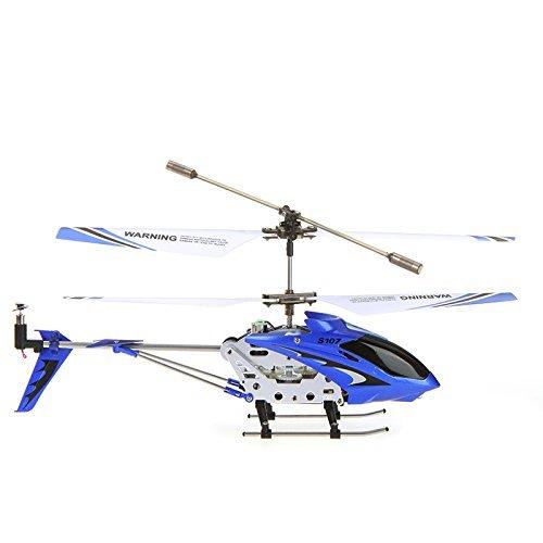 Arshiner Syma S107G Mini Helikopter 3CH Gyro RC Flugzeug RTF mit LED Blau/Gelb