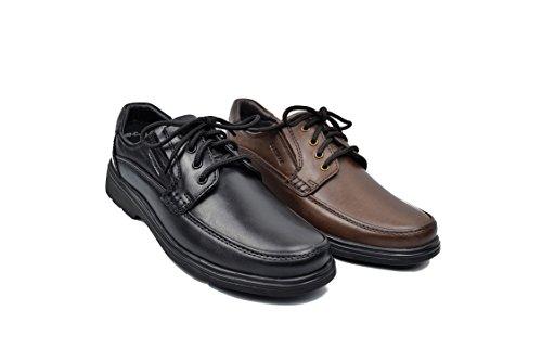Zapatos Hombres Marron Confortables Piel Zerimar Zapatos Zapatos de Zapatos Zapatos Zapatos camareros Vestir hostelería de 01xq5F