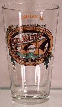 Eel River Brewing Company Glassware - Be Natural Drink Naked - Set of 4 Brewery Beer Pint Glasses