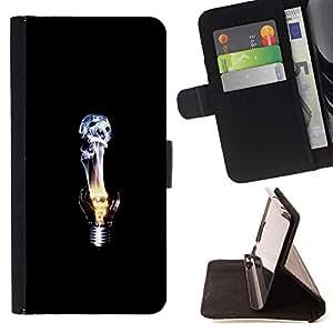For HTC One M9 Case , Idea profunda Emo Negro Oscuro- la tarjeta de Crédito Slots PU Funda de cuero Monedero caso cubierta de piel