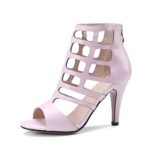 NVXIE Cheville Femmes Strap Partie Plate Weding Sandales Soirée D'abricot Talons Hauts Été pink Noir Bout Forme Sandales Ouvert wrqdwRI