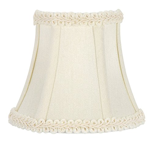 Half Lamp Shades - Upgradelights 5 Inch Clip on Chandelier Half Shade in Eggshell Silk