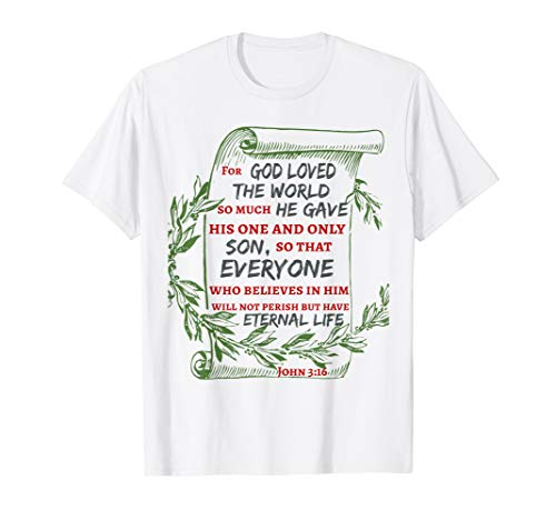 Athens VBS Memory Verse John 3:16 Laurel Wreath Scroll T-Shirt