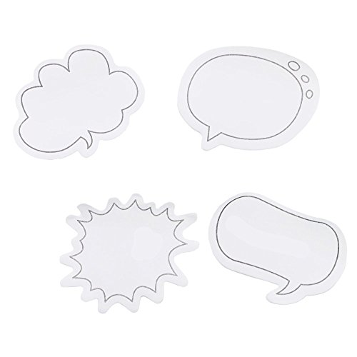 (TWDRer 16Pack Thought Cloud Sticky Notes,Talking Bubble Sticky Notes,4 Styles,Total 480sheets)