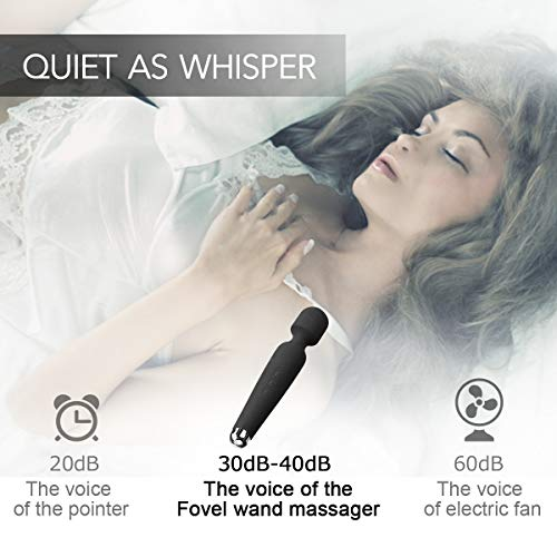 Mini-Wand-Massager-Fovel-Wireless-Cordless-Portable-Small-Size-Handheld-Powerful-Massage-for-Back-Neck-Shoulder-5-Vibrations-5-Intensities-Silent-Waterproof-USB