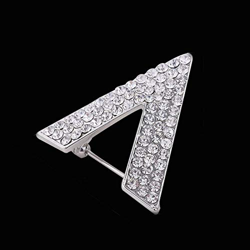Taco Mocho Shirt Brooch Pin Collar Silver Plated Crystal Rhinestone V Shape Letter Brooches Women and Men's Suits Pin Jewelry