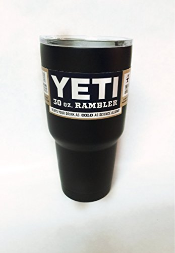 YETI Coolers 30 oz Rambler Stainless Steel Tumbler Powder Coated *Made to Order* (Flatter Black)