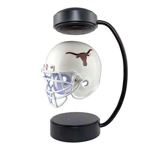 - Texas Longhorns NCAA Hover Helmet - Collectible Levitating Football Helmet with Electromagnetic Stand