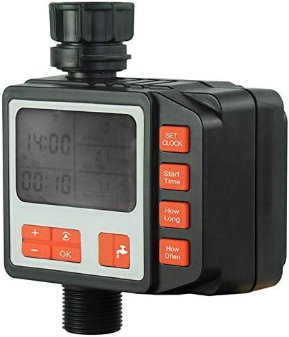 Bedler Bewässerungswasser-Timer-Controller Garden Elektronisch programmierbarer automatischer Bewässerungs-Timer Wasserdichter Wasserhahn zum Schlauch-Timer mit LCD-Display-Magnetventil für Parterre