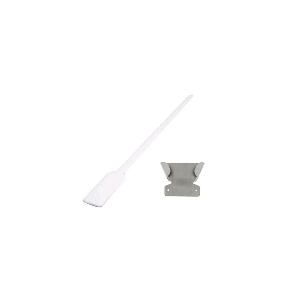 Follett ABICEPADDL White Poly 58-1/2'' Ice Paddle And Holder