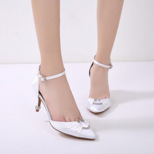 Comfort amp; 17767 Satin Fall Wedding Dress 25 YC High L Evening Wedding Women's Champagne Blue Heel Stiletto Summer Party AFqX1X