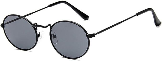 Herren Sonnenbrille Metall Oval Schwarz Grün UV 400