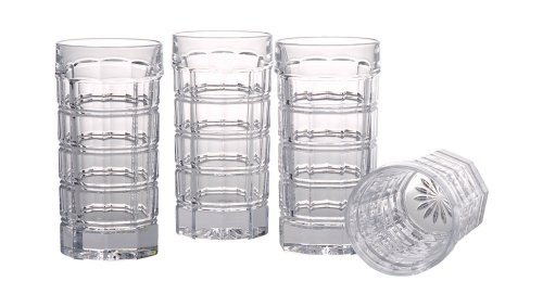 Thomas O'Brien for Reed & Barton Set of 4 Darby Highball Glasses