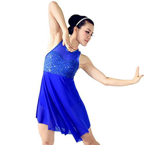 [MiDee Stage Dance Costume Dress for Children and Adults 5 colors 10 sizes available (MA, Royal] (Dance Costumes Ma)