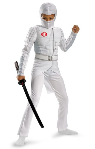 Disguise Boys GI Joe Movie Storm Shadow Light Up Deluxe Muscle Costume, Small/4-6