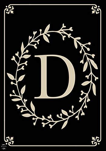 Briarwood Lane Classic Monogram Letter D Garden Flag Everyday 12.5