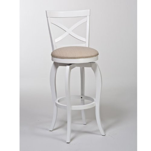 Hillsdale Furniture Traditional Counter Stool in White