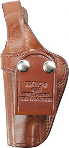 Bianchi 3S Pistol Pocket Holster - Colt. Commander .45 (Tan, Left (Holster Colt 45 Commander)