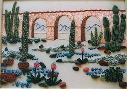Succulent Rock Garden - DK Designs Brazilian Embroidery pattern & fabric #3824