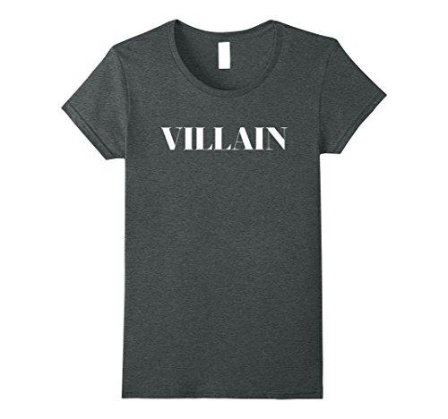 Womens Villain TV Movie Lover Character Tshirt Medium Dark (Funny Female Movie Characters Halloween)