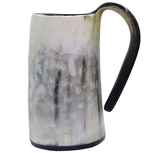 Viking Drinking Mug-Natural Ox Horn Drinking Mugs Beer Cups Viking Mugs by HORATII (Image #3)