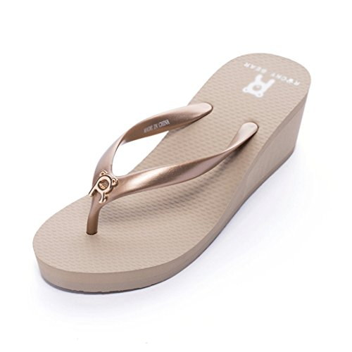 Shiny Pearly Beach Female Summer Waterproof Sandals And Slippers Fashion (Size : 37) xoYfl