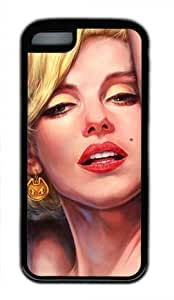 Sexy Lady Marilyn Monroe M038 Iphone 5C Black Sides Rubber Shell Case by eeMuse hjbrhga1544