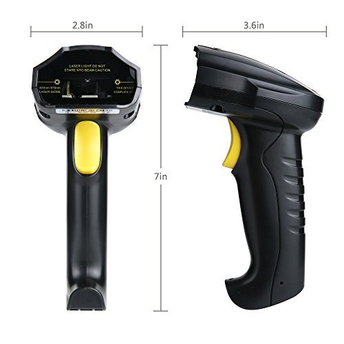 TaoHorse Handheld USB Barcode Scanner Wired Laser 1D Bar Code Reader with Automatic Continuous Scanning for POS PC Laptop Plug and Play by TaoHorse (Image #6)