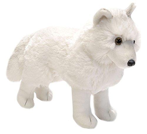 "Wild Republic ARCTIC WOLF 12"" Standing Plush Cuddlekins Whit"