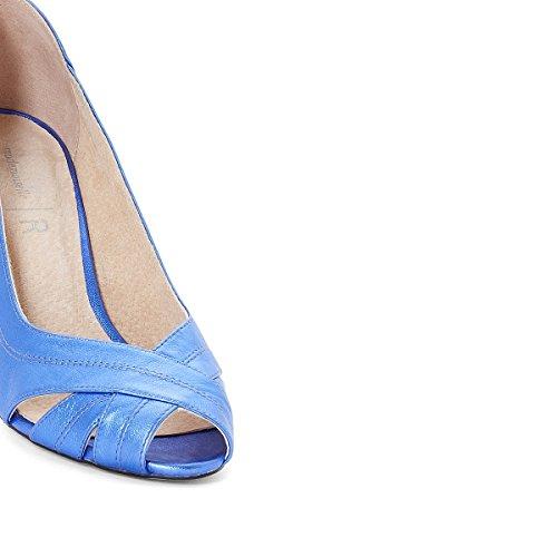 Mademoiselle R Frau Pumps IM Retrolook, Leder mit Pailletten Gre 41 Blau