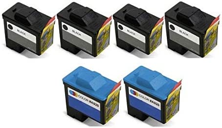 4B2C92R 4-Black//2-Color SuppliesMAX Compatible Replacement for Dell A720//A920 Inkjet Combo Pack Series 1