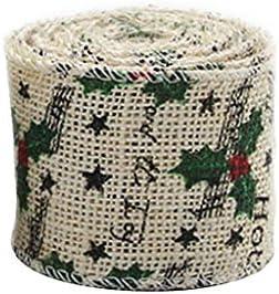 素朴な リネン製 リボン 麻布ロール 結婚式 宴会 クリスマスパーティー 会場飾り