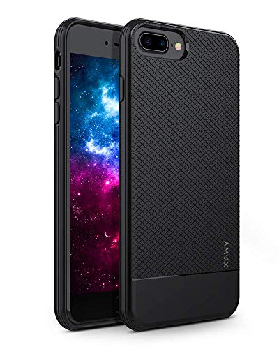 Xawy iPhone 6 Plus Case, iPhone 6s Plus Case, Slim Fit Shell Hard Soft Feeling Full Protective Anti-Scratch&Fingerprint Cover Case Compatible with iPhone 6/6s Plus(Black) (Hard Shell Case For Iphone 6 Plus)