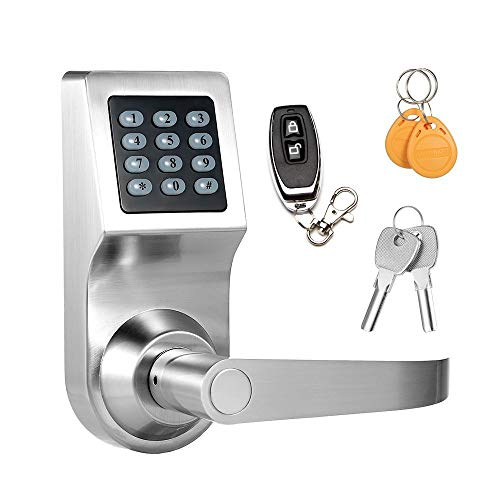 Keyless Electronic Digital Smart Door Lock, Keypad – Smartcode Security, Grant & Control Access for Home, Office (Silver)