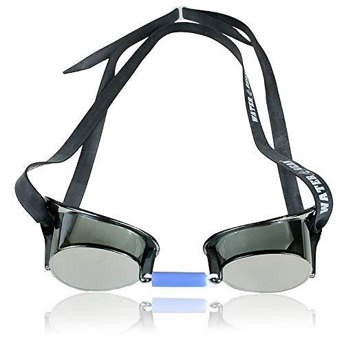 aa19b8c3fdbb Water Gear Metallic Swedish Pro Anti-Fog Swim Goggles Silver - Import It All