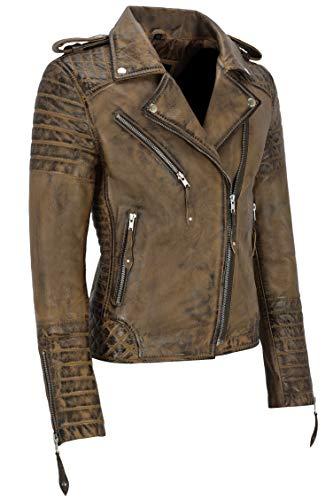 Brown Classico Da Ltd Co In Pelle 2260 100 Leather Donna Stile Vera Motociclista Napa Range Dirty Giacca Smart CqRzTT