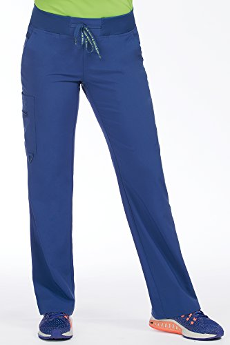 Med Couture Activate Women's Yoga Cargo Pocket Scrub Pant, Large, Galaxy Blue