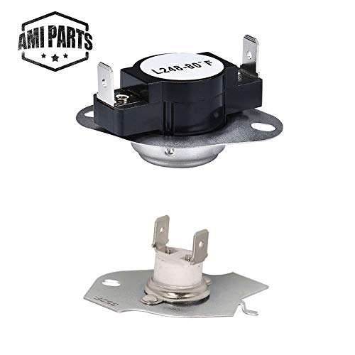 (AMI PARTS 279769 Dryer Thermal Cut-Off Kit Replacement Part Exact Fit for Whirpool & Kenmore dryers - Replaces 3389946, 3398671, 3977394, 695563, AP3094224, 3390291)