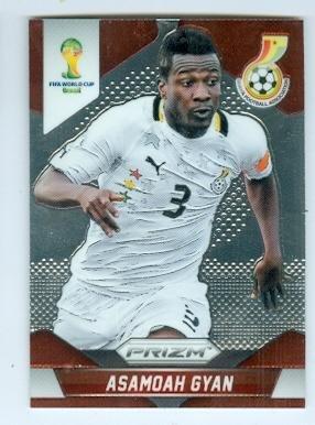 fan products of Asamoah Gyan trading card (Ghana Al Ain Rennes Soccer) 2014 World Cup Prizm Chrome #98