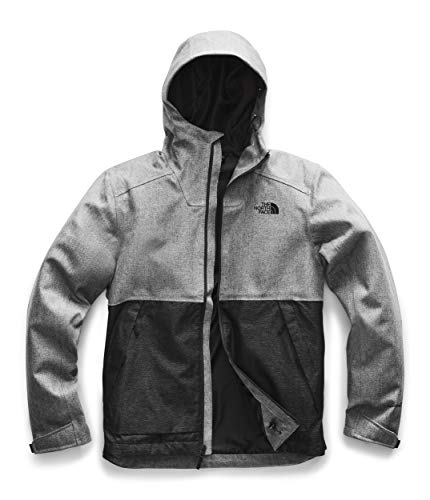 The North Face Men's Millerton Windbreaker Jacket, Monument Grey Herringbone/TNF Black Dobby, XL (Venture North Face)