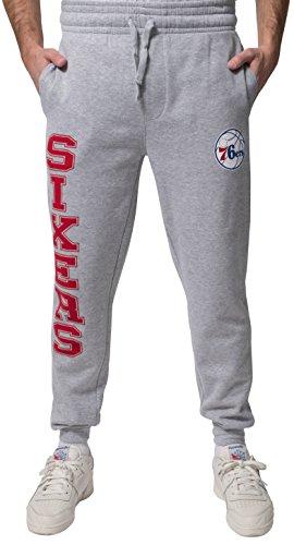 NBA Philadelphia 76ers Men's Jogger Pants Active Basic Soft Terry Sweatpants, XX-Large, Gray