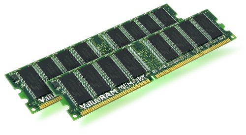 (Kingston KVR400X64C3AK2/1G 1GB DDR400 DDR Non-ECC CL3 Kit)
