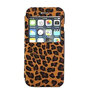 DD Leopard PU Leather with Sleep Display Window for iPhone 6 Plus (Assorted Colors) , Pink