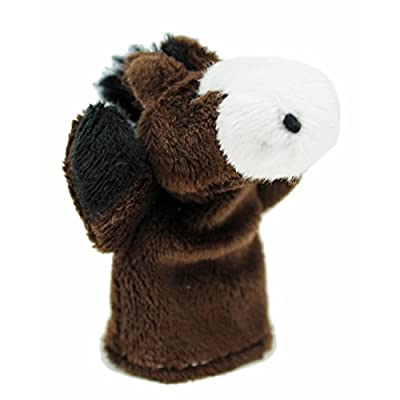 Kid's Plush Animal Finger Puppet: Horse - By Ganz: Office Products