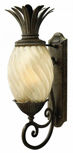 Hinkley 2124PZ Leaf, Flower, Fruit One Light Wall Mount from Plantation collection in (Plantation Pineapple Wall)