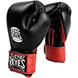 Cleto Reyes Extra Padding Training Gloves with Hook and Loop Closure - Black - 14-Ounce